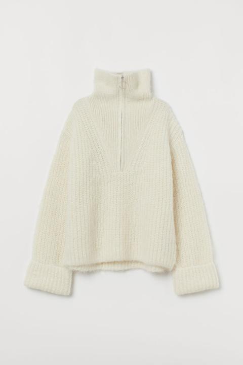 Jersey Grueso De Lana - Blanco de H&M en 21 Buttons