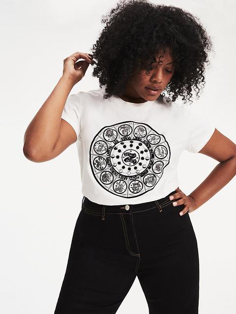 Camiseta Zendaya Curve Con Estampado De Zodiaco