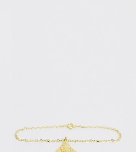 Hermina Athens - Goldenes Armband Mit Dreiecks-anhänger - Gold from ASOS on 21 Buttons