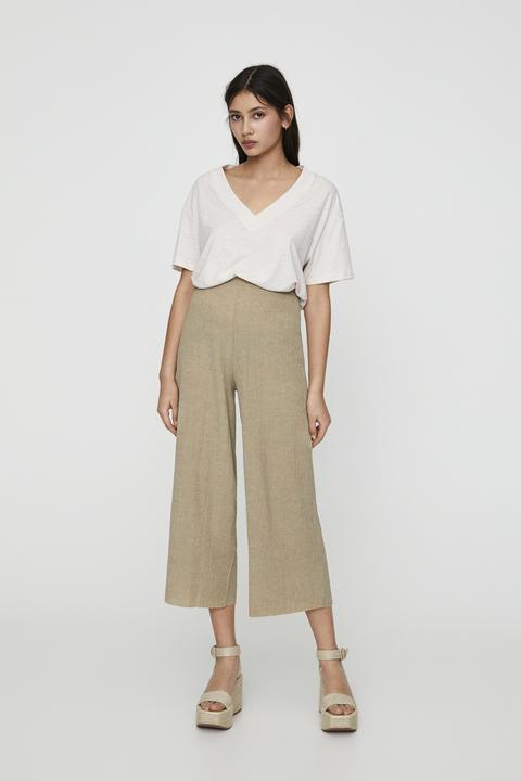 Pantalón Culotte Tejido Ligero