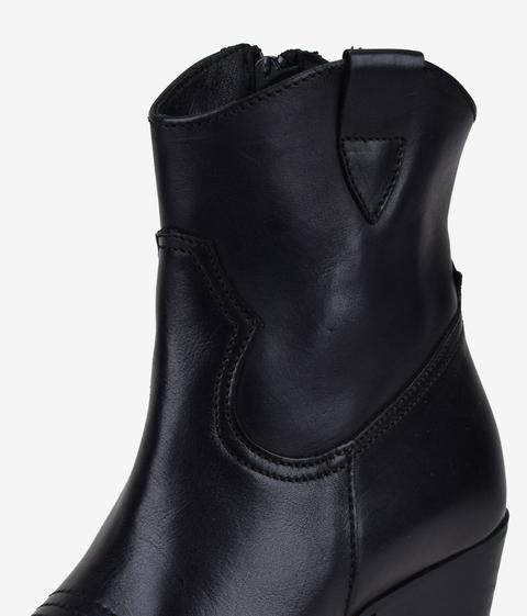 Bosanova - Botín Cowboy Negro Piel - Color: Negro