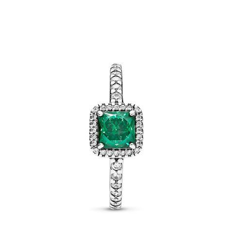 Anillo En Plata De Ley Elegancia Atemporal Verde