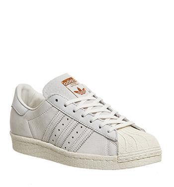 Adidas Superstar 80s Chalk White Copper