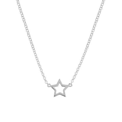 Cadena Con Colgante Estrella En Plata