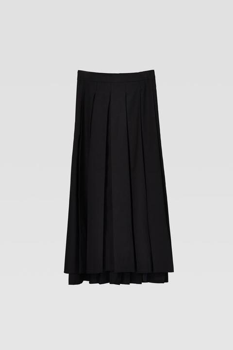 Falda Tablas Estampada de Zara en 21 Buttons