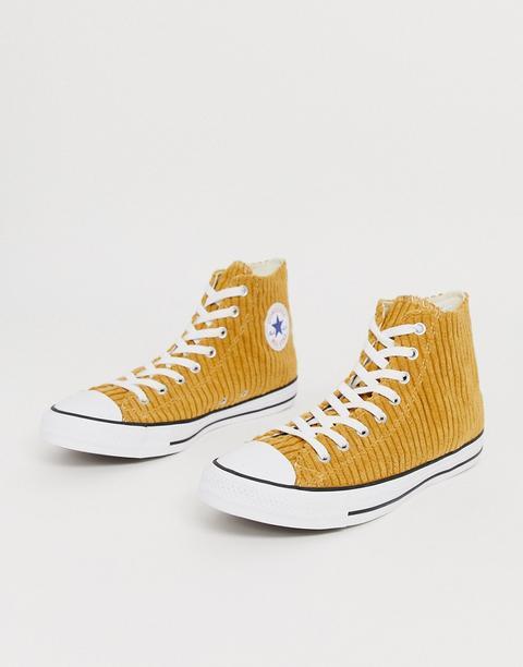 Zapatillas De Pana Doradas Chuck Taylor All Star De Converse-dorado