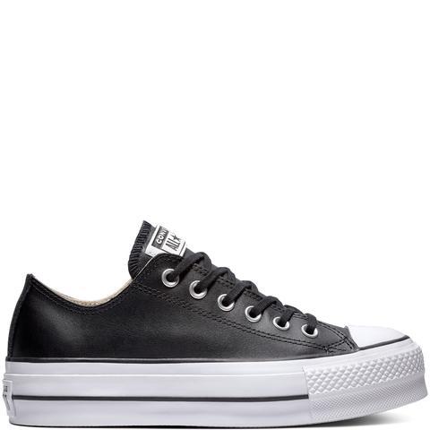 Converse Chuck Taylor All Star Lift Clean Leather Low Top Black, White de Converse en 21 Buttons