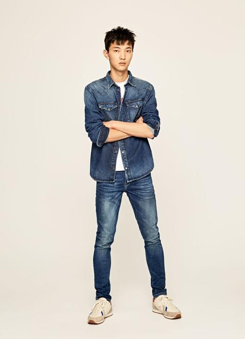 Finsbury Skinny Fit Low Waist Jeans de Pepe Jeans en 21 Buttons