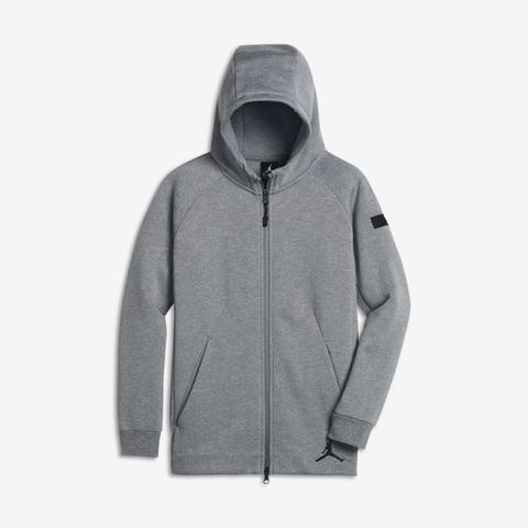 Felpa Con Cappuccio E Zip A Tutta Lunghezza Jordan Icon Fleece - Ragazzo - Grigio de Nike en 21 Buttons