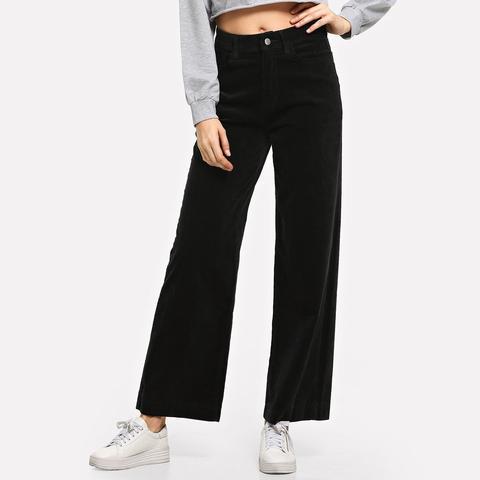 Pantalones Anchos De Pana de SheIn en 21 Buttons