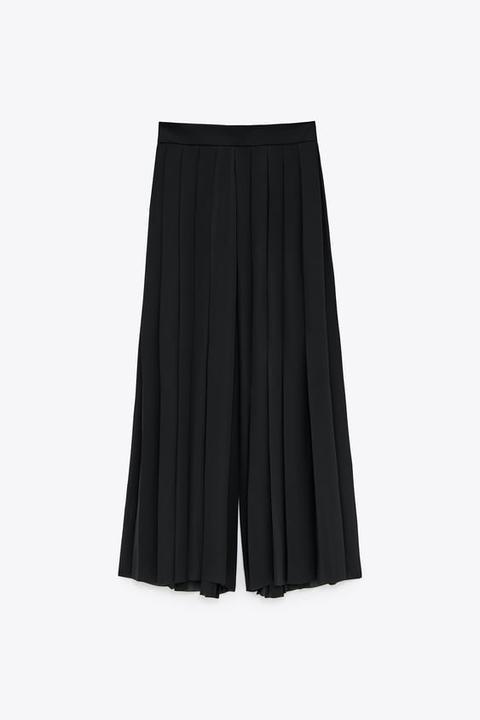 ZARA Jupe Midi droite plissée Crinkle Jupe Jersey S M Casual Femme