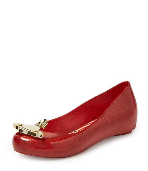 Ultra Girl Xvii Red Glitter Ballerinas