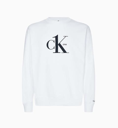 Sudadera De Algodón Orgánico Con Logo - Ck One de Calvin Klein en 21 Buttons