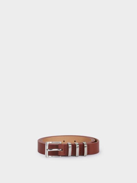 Cinturón Liso Con Hebilla