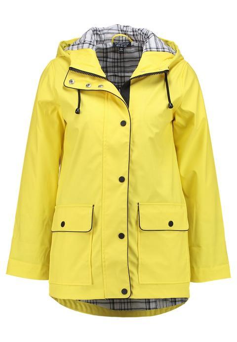 Topshop Petite Annie Mac Parka Yellow