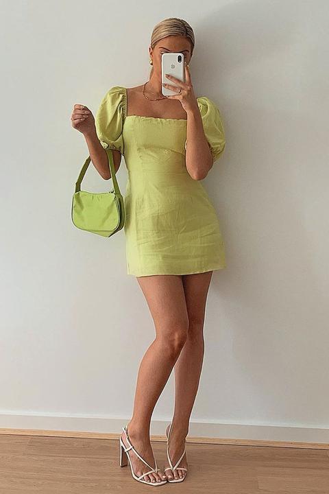 Vg Edit Of The Best Linen Mini Dress // Lime