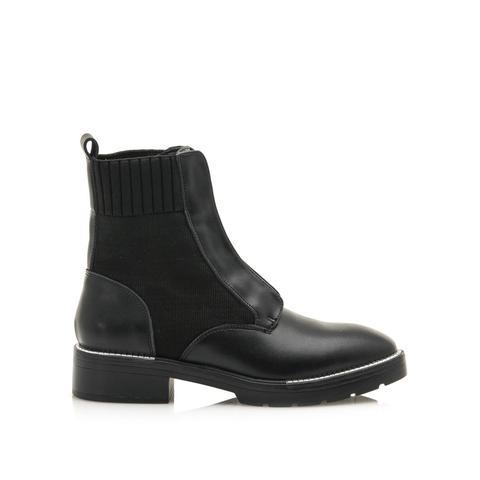 Botín Militar Ebysu Negro de Sixtyseven Shoes en 21 Buttons