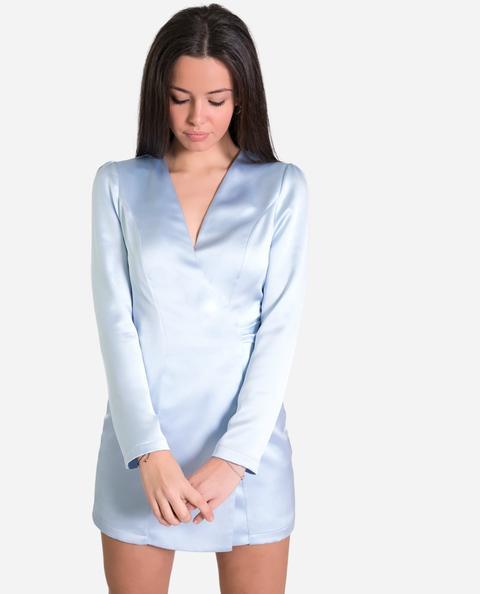 Blazer Vestido Azul Celeste From The Are On 21 Buttons