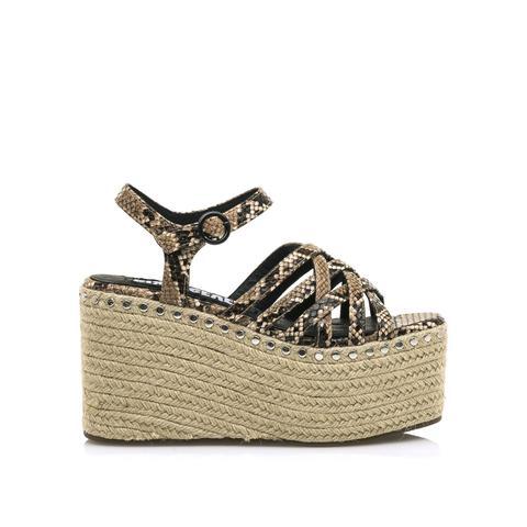 Sandalia Malta Serpiente Taupe de Sixtyseven Shoes en 21 Buttons