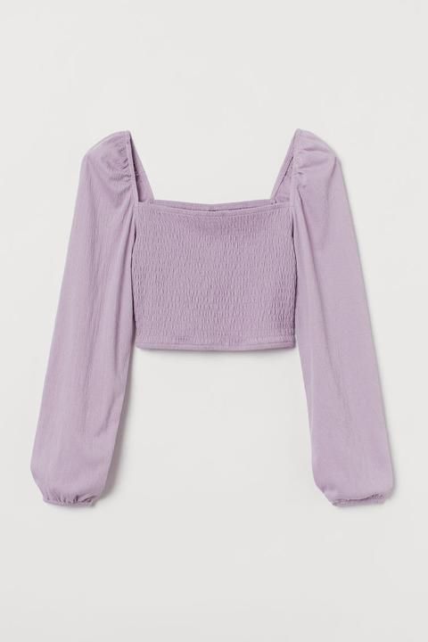 Top Fruncido - Púrpura