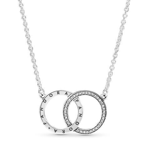 Collar En Plata De Ley Círculos De Pandora de Pandora en 21 Buttons
