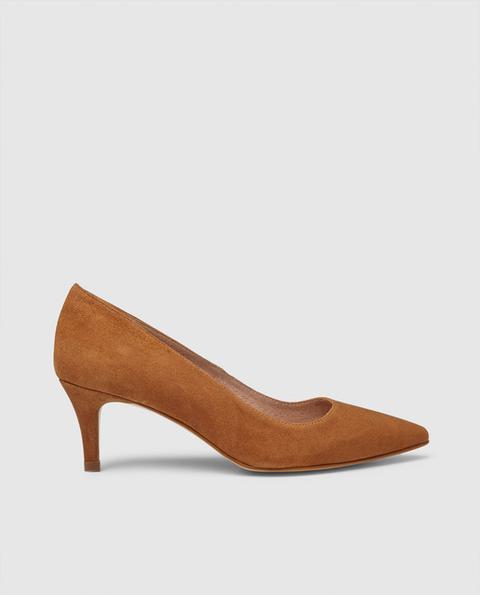 Zendra Basic - Zapatos De Salón De Mujer De Piel En Color Beige de El Corte Ingles en 21 Buttons