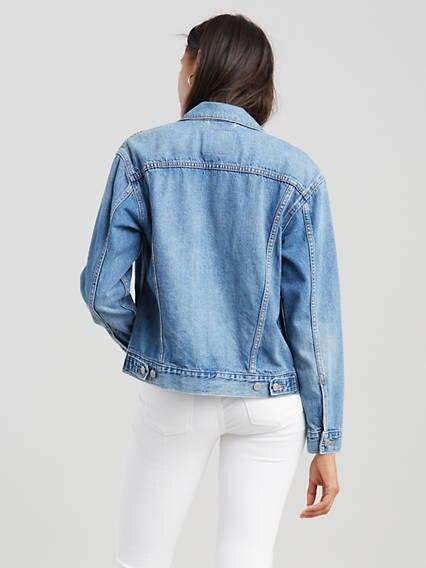 Ex Boyfriend Trucker Jacket Azul / Soft As Butter Medium Blue