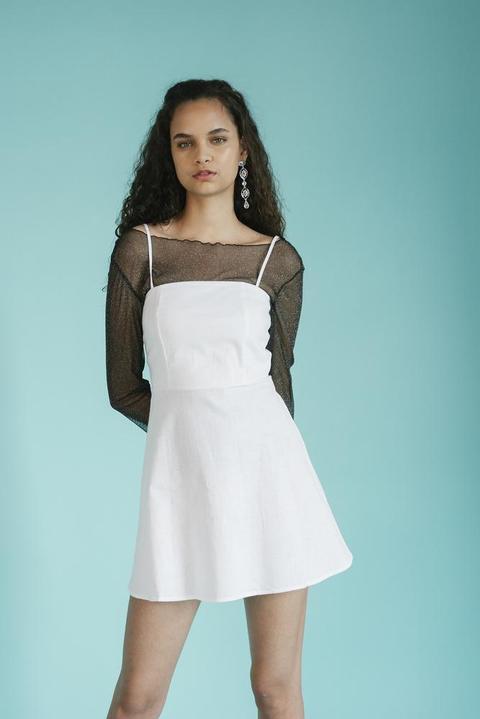 Saturday Vibes White Dress de ARIZONA VINTAGE en 21 Buttons