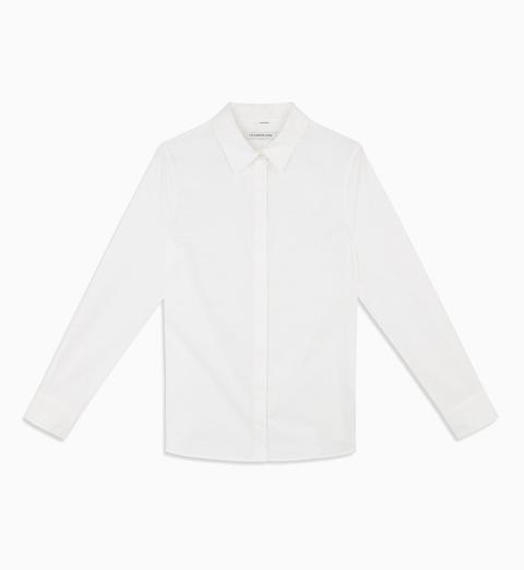 Camisa Slim De Algodón Elástico