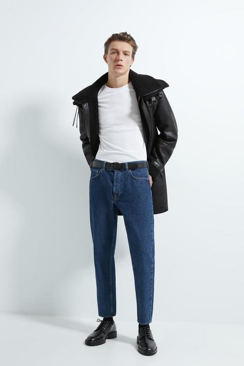 Abrigo Combinado Doble Cuello de Zara en 21 Buttons