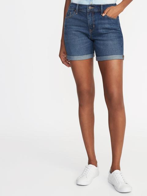 "Slim Midi Jean Shorts For Women (5"")"