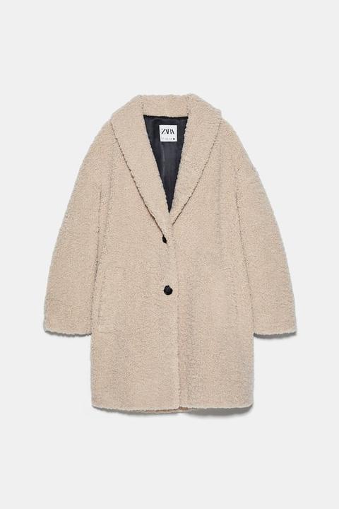 Abrigo Borreguillo de Zara en 21 Buttons