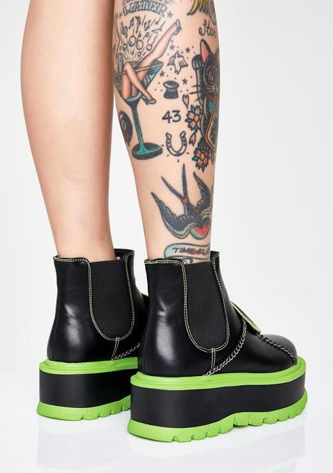 Slime Area 51 Platform Boots