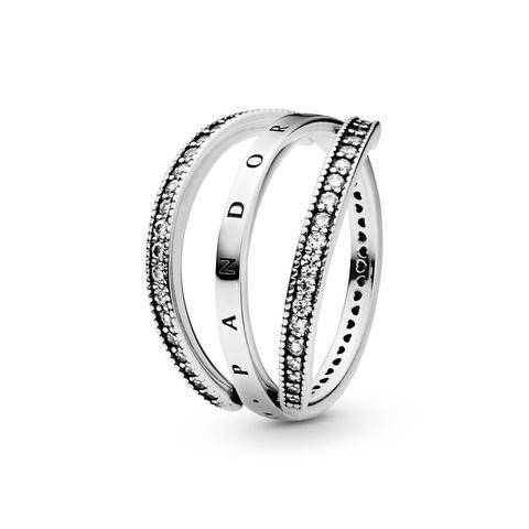 anello pandora corona di cuori