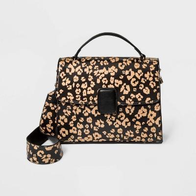 Leopard Print Satchel Handbag Who