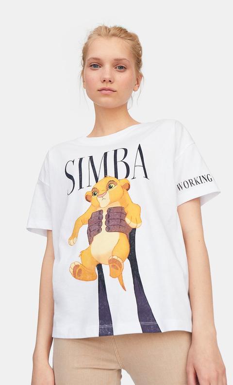 t shirt roi lion femme zara