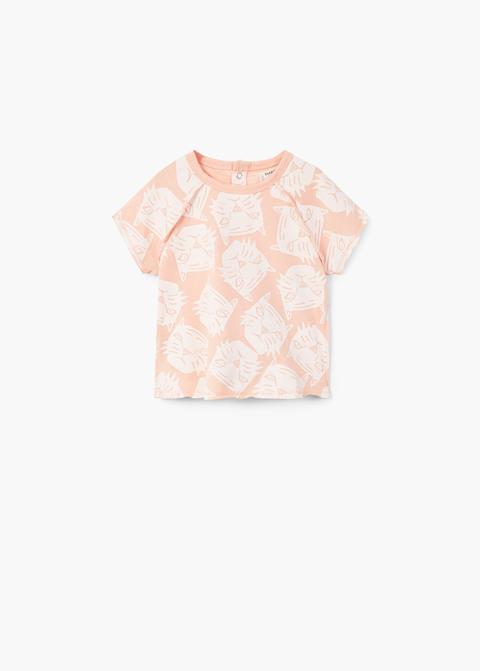 Maglietta Cotone Tigre de Mango Outlet en 21 Buttons