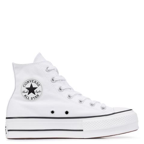 Converse Chuck Taylor All Star Lift High Top White, Black de Converse en 21 Buttons