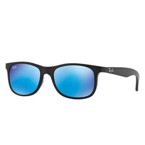Rj9062s Unisex Sunglasses Lentes: Azul, Montura: Negro de Ray-Ban en 21 Buttons