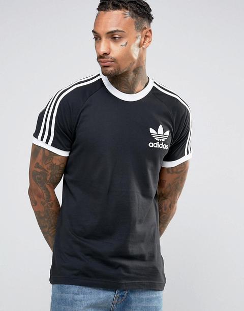 gato cuerda Hombre  Adidas Originals - California Az8127 - T-shirt Nera - Nero from ASOS on 21  Buttons