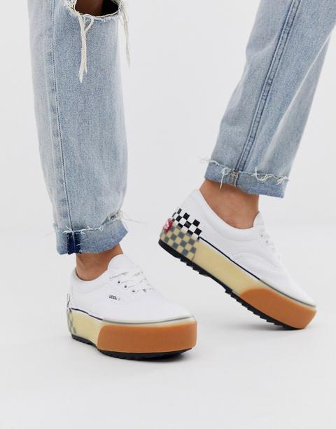 Zapatillas Blancas Con Suela Laminada Era De Vans-blanco