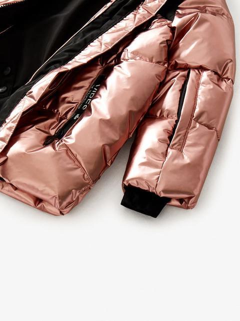 Abrigo Acolchado Metalizado Water Resistant