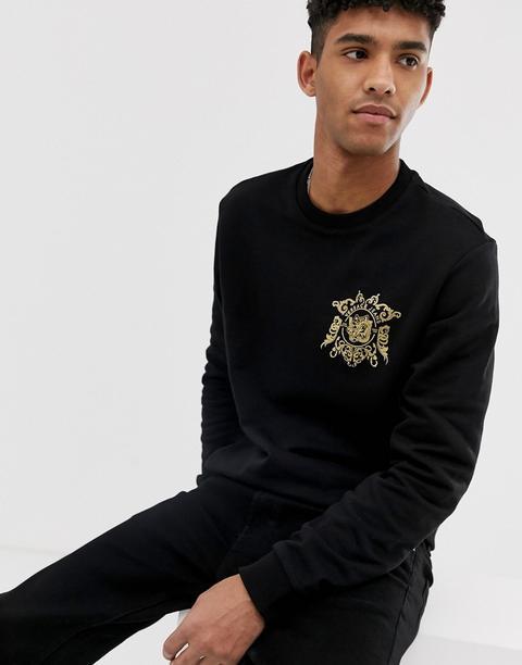 salida de fábrica bien fuera x elige mejor Sudadera Negra Con Logo Pequeño De Versace Jeans de ASOS en 21 Buttons