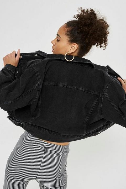 Petite Cropped Oversized Jacket