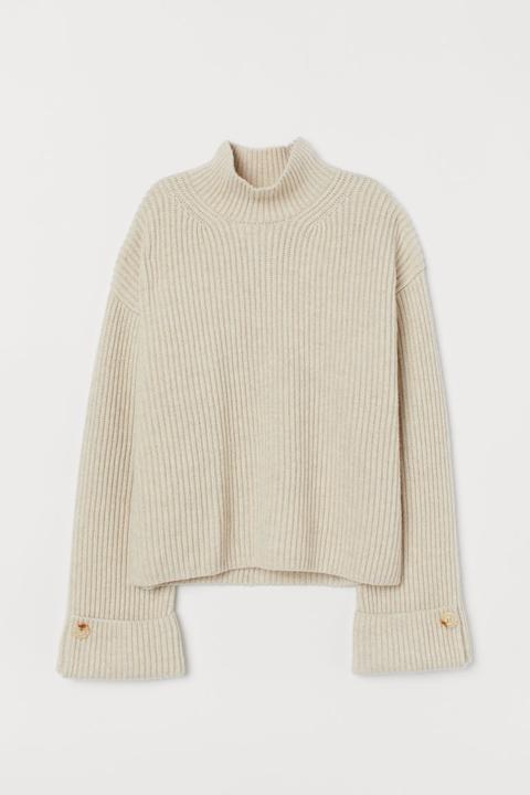 Jersey En Mezcla De Lana - Beis de H&M en 21 Buttons