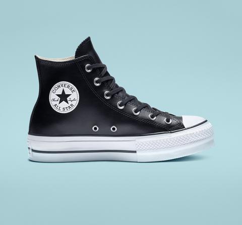 Converse Chuck Taylor All Star Platform Leather High-top Black
