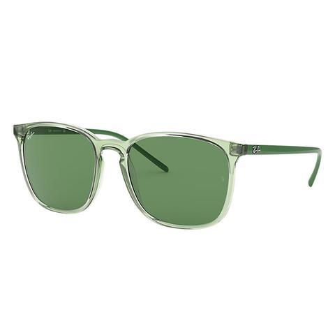 Rb4387 Hombre Sunglasses Lentes: Verde, Montura: Verde de Ray-Ban en 21 Buttons