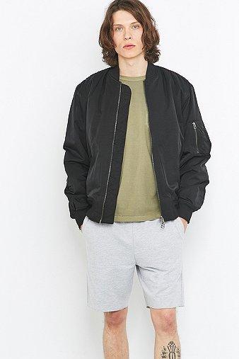 Loom Armstrong Nylon Black Bomber Jacket - Mens Xl