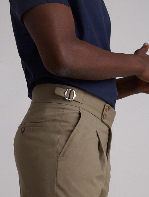 Pantalon Vestir Tailoring Verde Oscuro&nbsp de Silbon en 21 Buttons