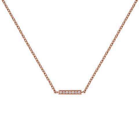 Colgante Barra Topacio Plata Recubierta Oro Rosa de Aristocrazy en 21 Buttons